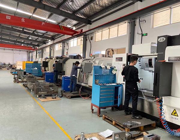 Machining center workshop